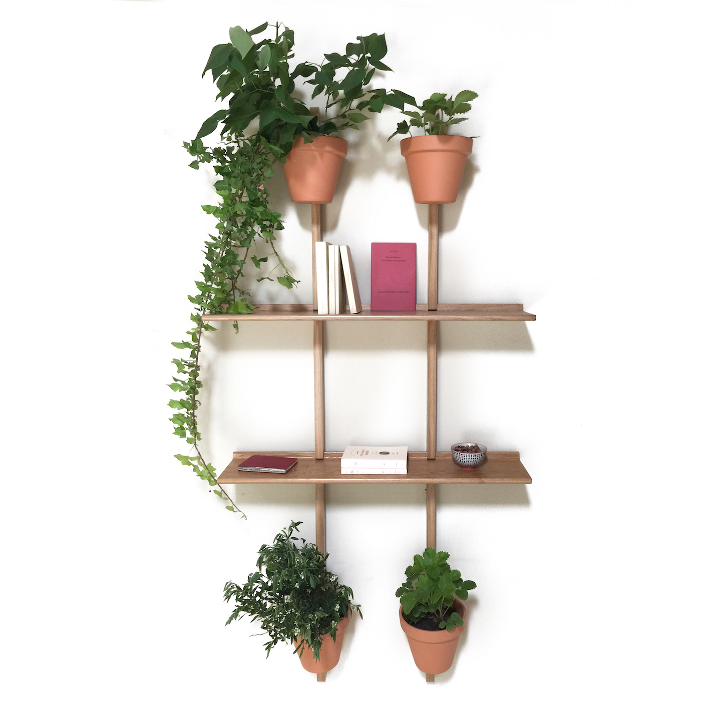 2 support mural 2 tag re bords droits xpot pour 8 - Support mural etagere ...