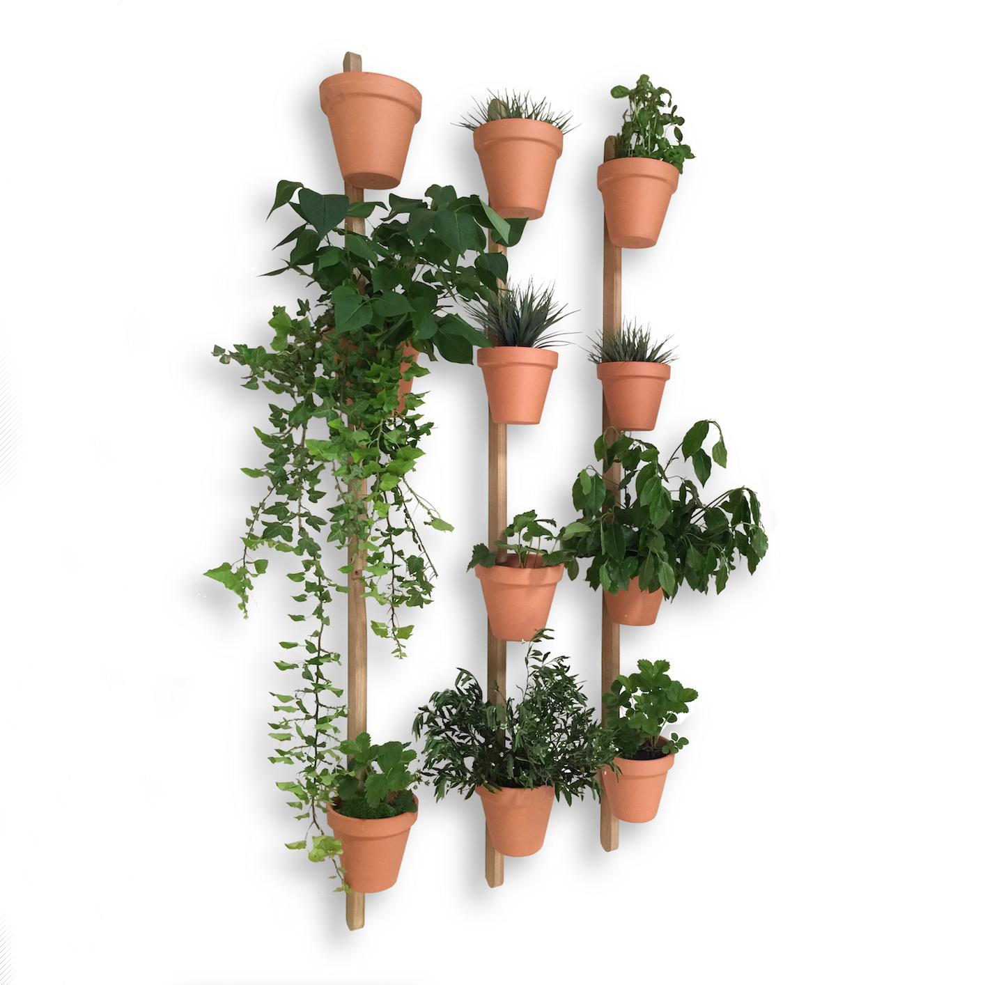 3 support mural xpot pour 4 pots ou tag res de fleurs h 200 cm. Black Bedroom Furniture Sets. Home Design Ideas