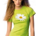 tee-shirt-femme-vert-anis-fleur-avec-plaisir-design